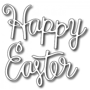 Frantic Stamper  Precision Die - Script Happy Easter (2)