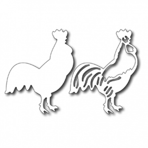 Cutting Die - Rooster (set of 2 )