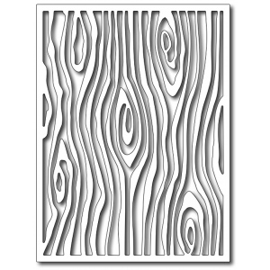 Frantic Stamper Precision Die - Woodgrain Card Panel