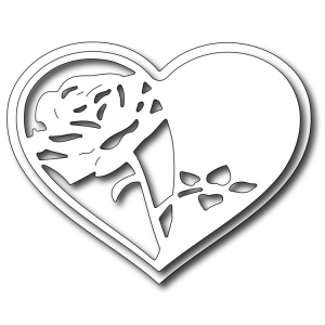 Frantic Stamper Precision Die - Rose Heart