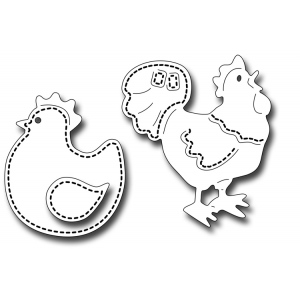 Frantic Stamper Precision Die - Stitched Poultry