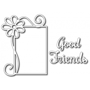 Frantic Stamper Precision Die - Good Friends Daisy Frame (set of 3 dies)