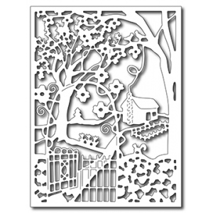 Frantic Stamper Precision Die - Spring Cottage in the Wildwoods Card Panel