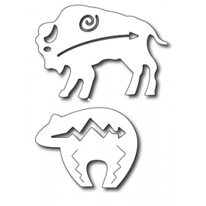 Frantic Stamper Precision Die - Southwestern Bear & bison (set of 2 dies)
