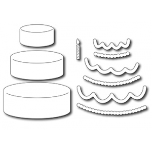 Frantic Stamper Precision Die - Tiered Cake and Trimmings (10)