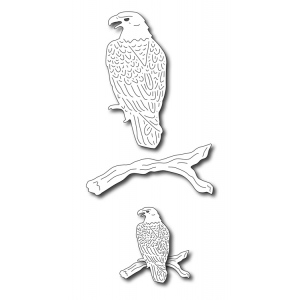 Frantic Stamper Precision Die - Bald Eagle on Branch