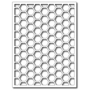 Frantic Stamper  Precision Die - Hexagon Card Panel
