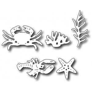 Frantic Stamper Precision Die - Ocean Floor Icons (set of 5 dies)