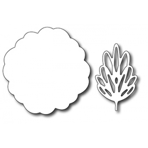 Frantic Stamper Precision Die - Scribble Flower Base and Leaf (set of 2 dies)