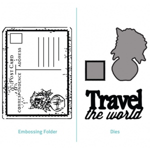 Embossing Folder 2 in 1 set - Travel the World