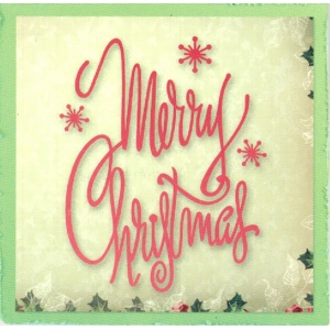 Ultimate Crafts Dies - Silent Night Collection - Merry Christmas Script