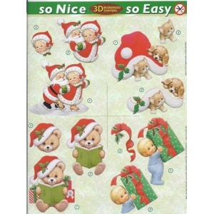 Morehead So Nice and Easy Christmas (4) - Hat, Present Teddie, Mr & Mrs Claus