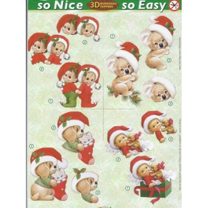 Morehead So Nice and Easy Christmas (4) - elves, koala, puppy, kitty