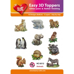 Hearty Crafts Easy3D Precut Toppers - Animals