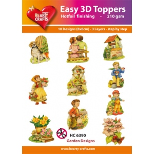Easy3D Precut Toppers - Garden Designs