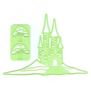 Lea'bilitie® Landscape castle, cut and embossing die.