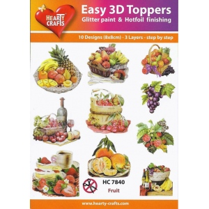 Easy3D Precut Toppers - Fruit