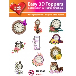 Hearty Crafts Easy3D Precut Toppers - Clocks