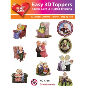 Hearty Crafts Easy3D Precut Toppers - Grandparents