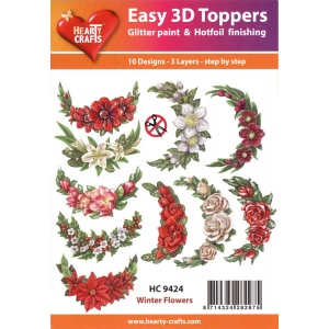 Hearty Crafts Easy 3D Toppers: Winter Flowers