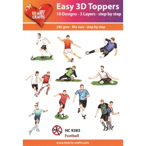 Easy 3D Toppers: Football
