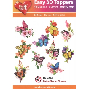 Hearty Crafts Easy 3D Toppers: Butterflies On Flowers
