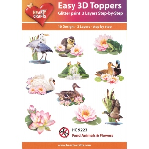 Hearty Crafts Easy 3D Toppers: Pond Animals & Flowers