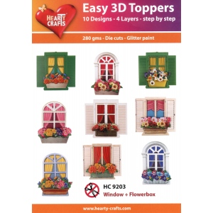 Hearty Crafts Easy 3D Toppers: Window & Flowerboxes