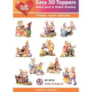 Hearty Crafts Easy 3D Toppers: Easter Vintage (2)