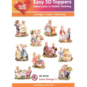 Hearty Crafts Easy 3D Toppers: Easter Vintage (1)