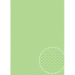 Parchment Paper - Green Dots (5 sheets)