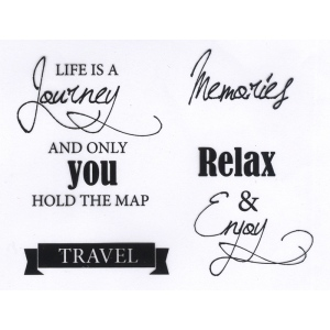 Joy! Crafts - Life is a Journey Stamp Set