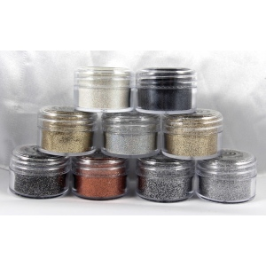 Cosmic Shimmer Brilliant Sparkle Embossing Powder: Anthracite
