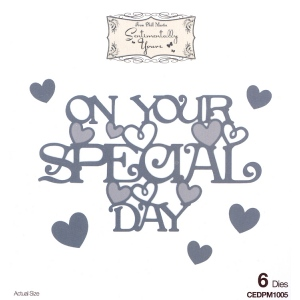 Creative Expressions Phill Martin Sentimentally Yours: From The Heart Collection: On Your Special Day