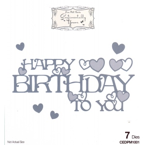 Creative Expressions Phill Martin Sentimentally Yours: From The Heart Collection: Happy Birthday To You