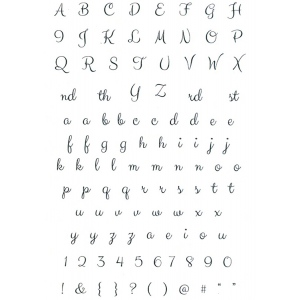 Sentimentally Yours Clear Stamp - Elegant Alphabet & Numbers