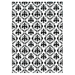 Nellie's Choice Vintasia Embossing Folder - Baroc Pattern