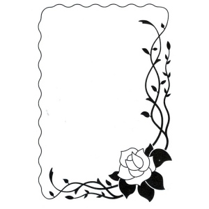 Vintasia Embossing Folder - Rose frame