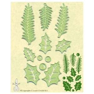 Lea'bilitie® holly leave, pine branches cut and embossing die