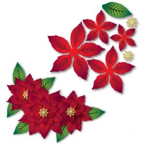 Dee's Distinctively Dimensional Die - Poinsettia