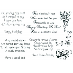 Creative Expressions Sentimentally Yours - Clear Stamps -  Birthday Verses