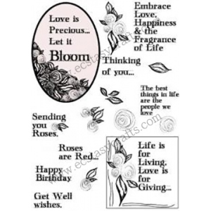 Creative Expression Stamp - Scribble Rose