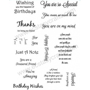 Creative Expression Sentiment Stamp Set 1