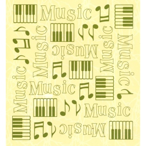 "Leane Creatief Embossing Folder Background Music 6"" X 6.5"""