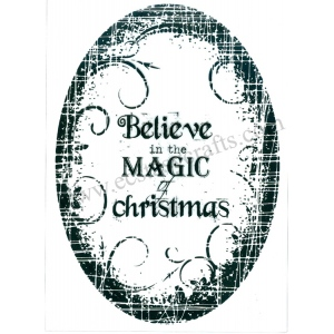 Ecstasy Crafts Stamp - Believe In The Magic Christmas