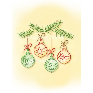 Lea'bilities Clear Stamp - Christmas ornaments small