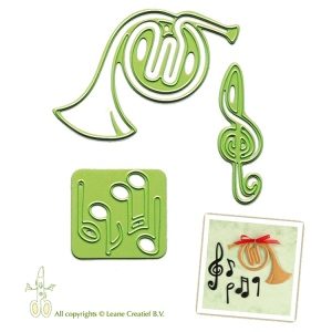 Leane Creatief Lea'bilities Embossing And Cutting Die - Horn