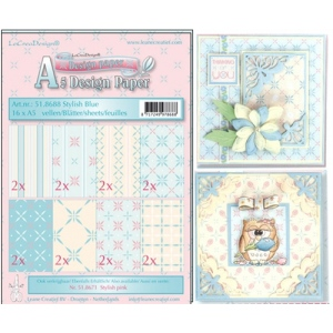 LeaCrea Design Paper - Assortment Stylish Blue