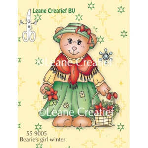 Clear Stamp - Bearie Winter Girl