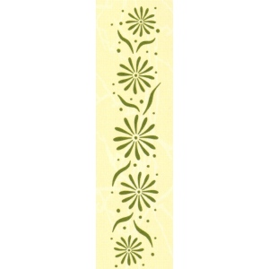 "Border embossing folder Flowers 1"" x 6"""